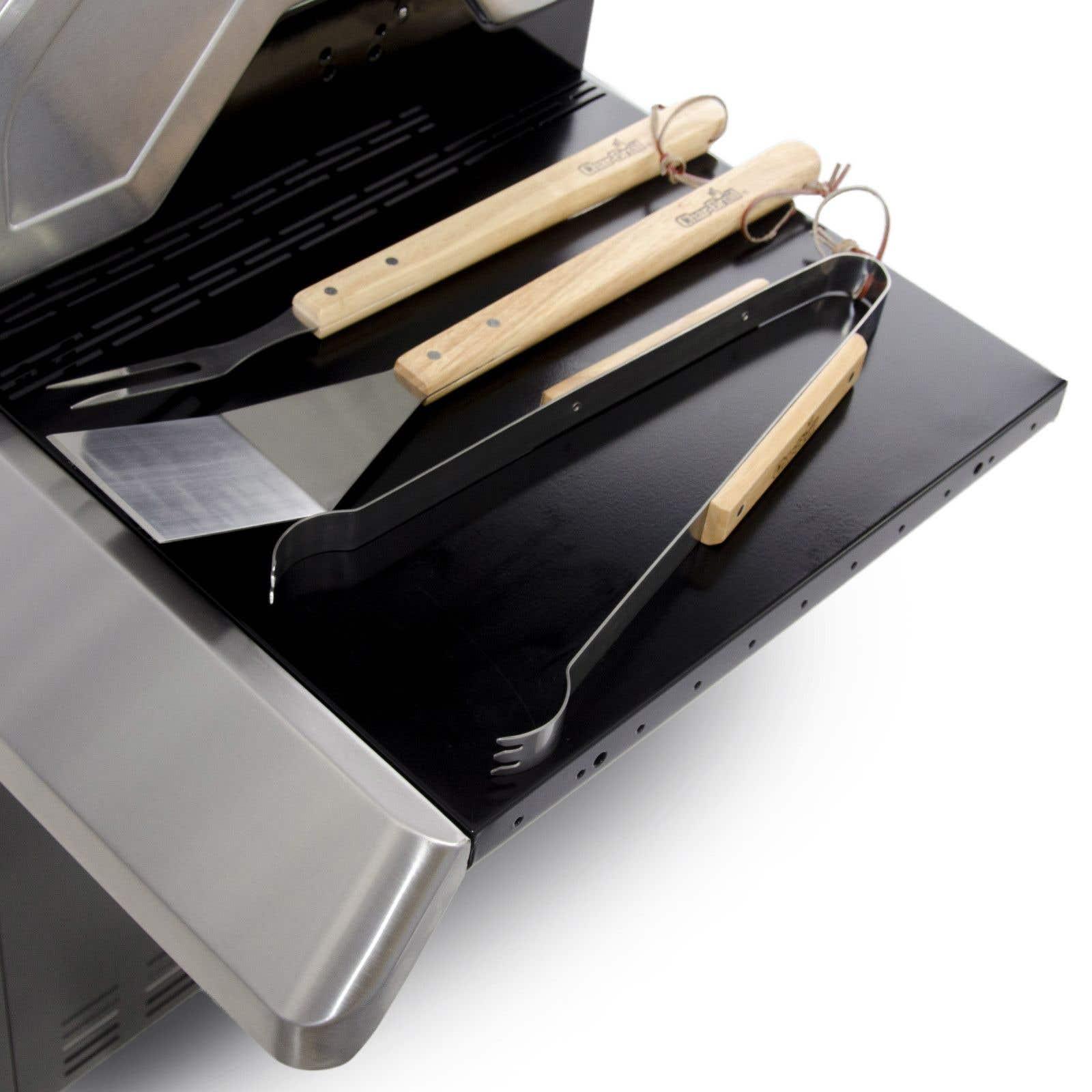 Набір для барбекю з 3 нержавіючих інструментів
